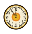 old clock timer midnight celebration vector image