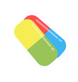 pills capsule isolated icon tablet white medicine vector image