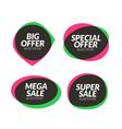 Sale banner speech bubble design element app icon vector image vector image