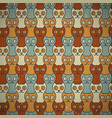 seamless cats background vector image vector image