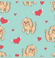 seamless pattern with dogs childish pattern vector image vector image