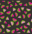 seamless pattern with watermelon vector image