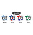 set of national football team group d vector image vector image