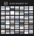 silver metallic gradient set vector image vector image