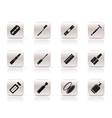 simple make-up icon set vector image vector image