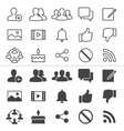 Social network thin icons vector image
