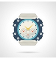 Sport wrist watch flat icon vector image