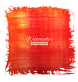 square red-orange watercolour banner vector image vector image