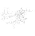 star font type fashion graphic print design vector image vector image