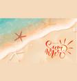 summer bannertop view sea tide starfish vector image