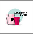 takeaway food banner dilicious meal vector image vector image