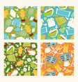 tennis seamless pattern playing tennis-ball vector image vector image