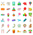 umbrella icons set cartoon style vector image vector image