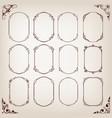 vintage circle frames vector image vector image