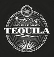 vintage tequila banner design on chalkboard vector image vector image