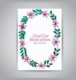 watercolor floral vintage invitation card vector image vector image