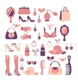 Woman accessories icon set vector image vector image