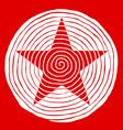 spiral star vector image