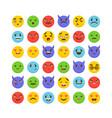 set of emoticons flat design avatars cute emoji vector image
