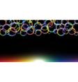 rainbow bubbles vector image