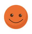 orange smile emoticon button icon vector image