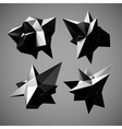 Abstract triangles space low poly vector image vector image