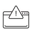 alert icon website error attention danger vector image
