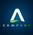 Alphabet A letter logo icon design vector image vector image