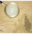 antique sailor background with old grungy map