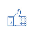 approval line icon concept approval flat vector image vector image