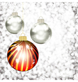 Background with Christmas balls vector image vector image