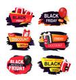 black friday offer autumn sale banners design set vector image