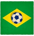 Brazil soccer old background vector image vector image