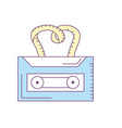 cassette to listen and play music vector image vector image