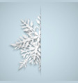 christmas background with big snowflakes vector image vector image