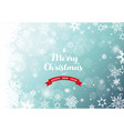 christmas green background with white snowflakes vector image vector image
