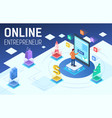 colourful isometric online vector image vector image
