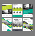 company flyer set vector image
