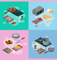 cooking food isometric vector image