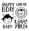 cute babirthday cartoon clip art vector image