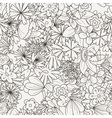 Doodle seamless pattern with various doodle vector image