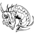 Dragon head tattoo vector image vector image