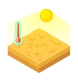 Drought icon in cartoon style vector image vector image