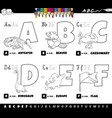 educational cartoon alphabet letters set from a vector image vector image