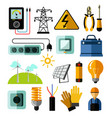 electricity power and energy generation equipment vector image