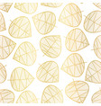 elegant gold foil scattered stylized leaf pattern vector image vector image