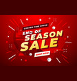 end of season sale banner sale banner template vector image vector image