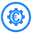 euro payment options rounded icon rubber stamp vector image vector image