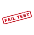 Fail Test Text Rubber Stamp vector image vector image