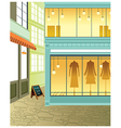 Fashion Boutique Streetview vector image vector image